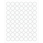 "Tape Logic® Circle Laser Labels, 1"", Clear, 6300/Case (LL230CL)"