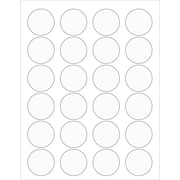 "Tape Logic® Circle Laser Labels, 1 5/8"", Clear, 2400/Case (LL231CL)"