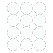 "Tape Logic® Circle Laser Labels, 2 1/2"", Clear, 1200/Case (LL232CL)"