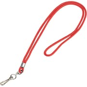 "Partners Brand Standard Lanyard with Hook, 36"", Red, 24/Case (LY101)"