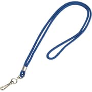 "Partners Brand Standard Lanyard with Hook, 36"", Blue, 24/Case (LY102)"