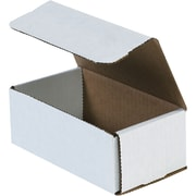 "Partners Brand Corrugated Mailers, 15"" x 7"" x 5"", White, 50/Bundle (M1575)"