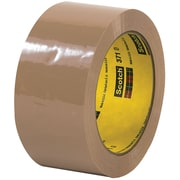 "3M™ Scotch  371 Carton Sealing Tape, 2"" x 110 yds., Tan, 6/Case (T902371T6PK)"