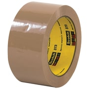 "3M™ Scotch  373 Carton Sealing Tape, 2"" x 110 yds., Tan, 6/Case (T902373T6PK)"