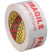 "3M™ Scotch  3772 Printed Message Tape, 2"" x 110 yds., White/Red, 6/Case (T90237726PK)"