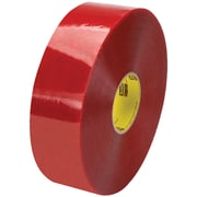 "3M™ Scotch  3779 Pre-Printed Carton Sealing Tape, 3"" x 1000 yds., Clear/Red, 4/Case (46450-8)"