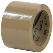 "3M™ Tartan™ 369 Carton Sealing Tape, 3"" x 110 yds., Tan, 6/Case (T905369T6PK)"