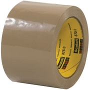 "3M™ Scotch  375 Carton Sealing Tape, 3"" x 55 yds., Tan, 6/Case (T905375T6PK)"