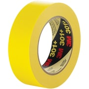 "3M™ 301+ Masking Tape, 1/2"" x 60 yds., Yellow, 72/Case (64749-9)"