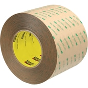"3M™ Scotch  9472LE Adhesive Transfer Tape, Hand Rolls, 4"" x 60 yds., Clear, 8/Case (56050-7)"
