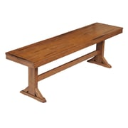Walker Edison Solid Wood Dining Bench, Antique Brown (SPBW1AB)