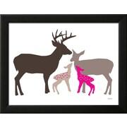 "Art.com  Avalisa 'Pink Deer' 18"" x 14"" Print (13140207)"