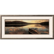 Art.com  Panoramic Images 'Water and Boat, Maine, New Hampshire Border, USA' 39 x 15 Print (13085455)