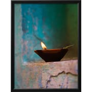 "Art.com Keren Su 'Lamp in a Little Shrine Outside Traditional House, Varanasi, India' 20"" x 26"" Print (12810250)"