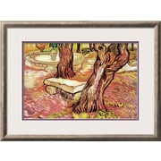 "Art.com Vincent van Gogh 'The Stone Bench in the Garden of Saint-Paul Hospital' 30"" x 22"" Print (9327568)"