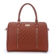 Sandy Lisa Siena Quilted Tote-Brown