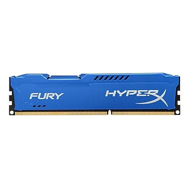 Kingston® – Mémoire informatique DIMM Hx313C9F/4 Hyperx FURY 4 Go 1333 MHz DDR3 CL9 240 broches, bleu