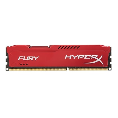 Kingston® Hx316C10FR/8 Hyperx FURY 8GB 1600MHz DDR3 CL10 240-Pin DIMM Computer Memory, Red