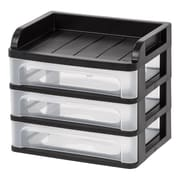 IRIS® Small Desktop Drawer System, Black, 4 Pack (150160)