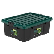 Remington® 43 Quart Heavy Duty Storage Tote, Black, 4 Pack (296210)