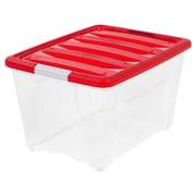 IRIS® 54 Quart Holiday Storage Box, Red, 6 Pack (100266)