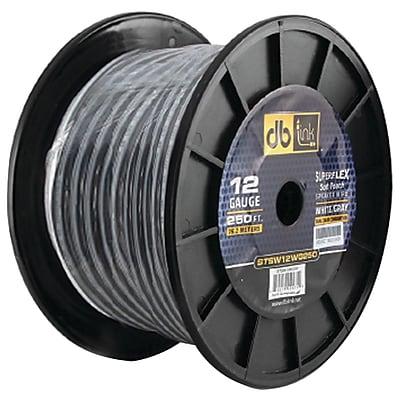 DB Link Superflex Series White gray Speaker Wire 16 Gauge 500ft