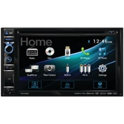 "Dual 6.2"" Double-din In-dash DVD Receiver With Built-in Bluetooth, Dualmirror & HDMI Input"