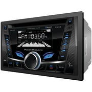 Power Acoustik Pcd-52b Double-din In-dash Cd/mp3 Am/fm Receiver With Bluetooth® & Usb Playback