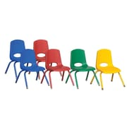 "ECR4Kids 12"" Stack Chair - Matching Legs -Assorted (ELR-15107-ASG)"