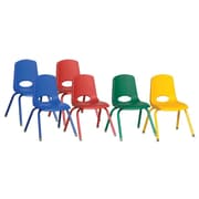 "ECR4Kids 14"" Stack Chair - Matching Legs - Assorted (ELR-15108-ASG)"