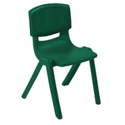"ECR4Kids 10"" Resin School Stack Chair - Green (ELR-15410-GN)"