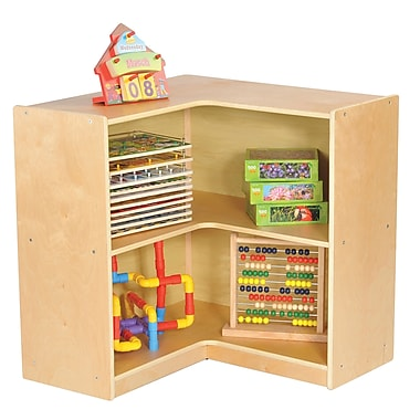Ecr4kids birch 30 corner storage unit natural elr 17207 staples - Storage staples corner ...