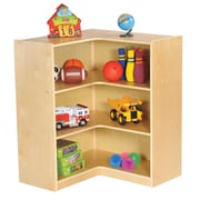 "ECR4Kids Birch 36"" Corner Storage Unit, Natural (ELR-17208)"