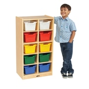 ECR4Kids Birch 10 Cubby Tray Cabinet with Assorted Bins (ELR-17215-AS)
