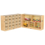 "ECR4Kids Fold and Lock 20 Tray Cabinet with 30"" Storage- SD (ELR-17217-SD)"