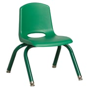 "ECR4Kids 10"" Stack Chair with Matching Legs - Green (ELR-2192-GNG)"