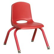 "ECR4Kids 10"" Stack Chair with Matching Legs - Red (ELR-2192-RDG)"