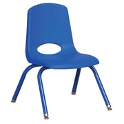 "ECR4Kids 12"" Stack Chair with Matching Legs - Blue (ELR-2193-BLG)"