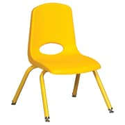 "ECR4Kids 12"" Stack Chair with Matching Legs - Yellow (ELR-2193-YEG)"