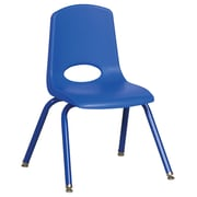 "ECR4Kids 14"" Stack Chair with Matching Legs - Blue (ELR-2194-BLG)"