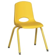 """ECR4Kids 16"""" Stack Chair with Matching Legs - Yellow (ELR-2195-YEG)"""