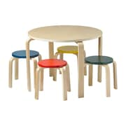ECR4Kids Bentwood Table and Stools Set (ELR-22201-AS)