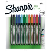 Sharpie® Pens, Fine Point, Assorted Colors, 12/pk (1802226)
