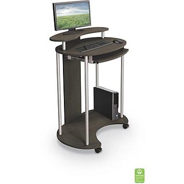 balt up rite work station sit stand desk brown 91105 staples. Black Bedroom Furniture Sets. Home Design Ideas