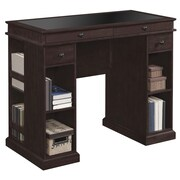 Bell'O Emporia Desk with Glass Top Insert, Midnight Cherry (OD9721-48-NC01)