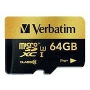 Verbatim® 44034 Pro+ Class 10/UHS-I (U3) 64GB microSDXC Memory Card