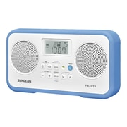 Sangean PR-D19 FM/AM Stereo Digital Portable Radio, Blue