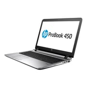 "HP® ProBook 450 G3 W0S83UT#ABA 15.6"" Notebook, LED, Intel i5-6200U, 128GB SSD, 8GB RAM, WIN 10 Pro, Black"