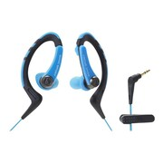 Audio-Technica® ATH-SPORT1 SonicSport® In-ear Headphone, Blue