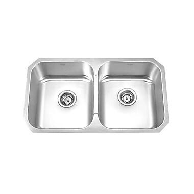 KRUGER GPD319 Pico-E Double Bowl Kitchen Sink, 18 Gallon Capacity